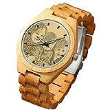 SOUFEEL Reloj Madera Personalizado Foto y Grabado Punteros Luminosos Cuarzo...