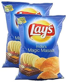 Lays Potato Chips - India s Magic Masala 52 grams  1.83 oz   Pack of 2  - India - Vegetarian