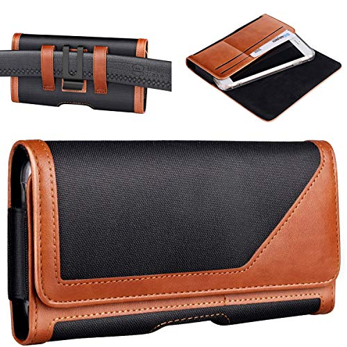 Mopaclle Galaxy S10 Holster, S8/S9 Premium Leder Gürteltasche mit Gürtelclip Schlaufen Holster Tasche Ausweishalter für Samsung S8, S9, S10e (passend Handy dünner Hülle)