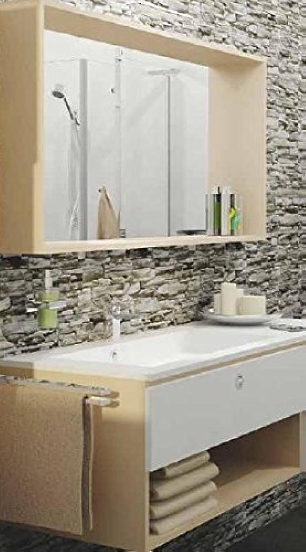 Tiger Jazz Badmbel Set 98 cm Waschtischunterschrank mit Waschtisch und Spiegel