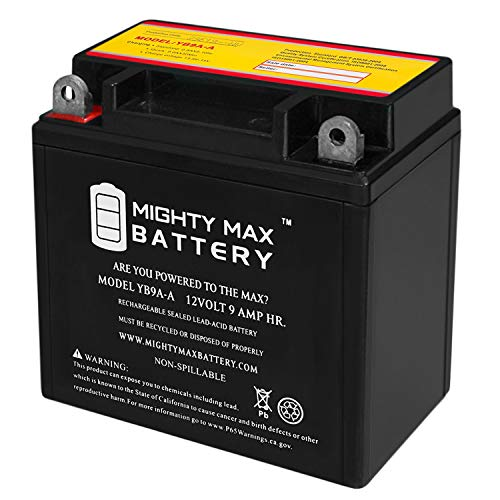 Mighty Max Battery YB9A-A 12V 9AH Battery Replacement for Honda ATC 125 M CB9A-A 1985 Brand Product