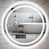 Espejo Baño con Luz Iluminación LED, Espejos de Baño con Sensor Táctil Regulables y Montados En La Pared para Cosméticos De Maquillaje, Clasificación IP44
