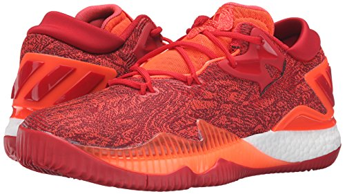 adidas Men's Crazylight Boost Low 2016 Basketball Shoe, Solar Red/Light Scarlet/Infrared, 11 M US