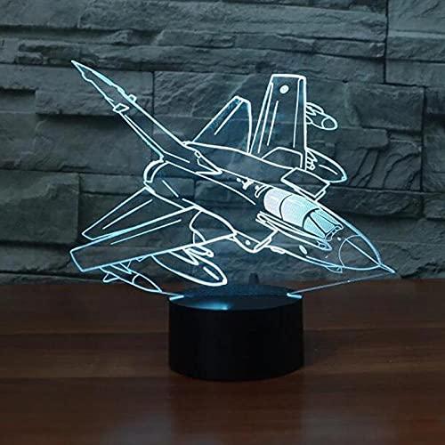 Aviones 3D ilusión lámpara japonesa anime luz 16 colores con remoto lámpara de escritorio para regalo de Navidad