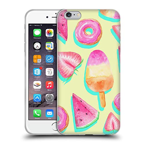 Head Case Designs Officially Licensed Haroulita Fruity Pop Fruits Soft Gel Case Compatible with Apple iPhone 6 Plus/iPhone 6s Plus