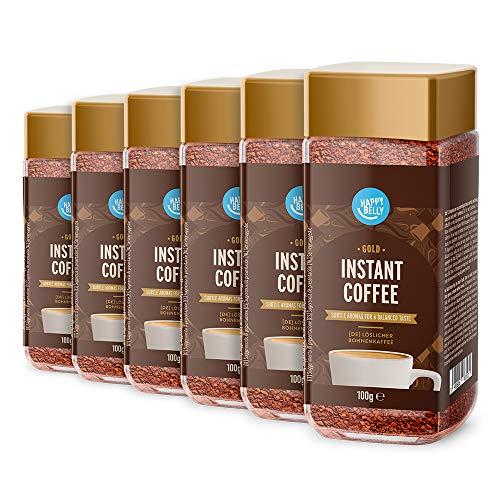 Amazon-Marke: Happy Belly Löslicher Bohnenkaffee Gold - 600gr (6x100gr)