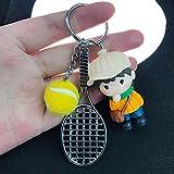 MWBLN Porte-clés,Jolie poupée Pendentif Raquette de Tennis Porte-clés couleur3