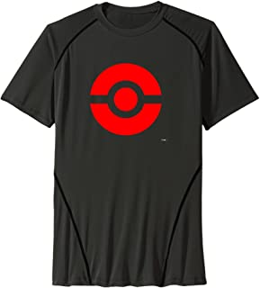 Men's Pokeball Icon Red Sport Quick Dry Short Sleeves T-Shirt
