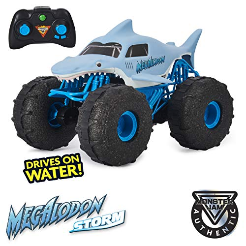 powerful Monster Jam, Megalodon Storm Official Off-Road Monster Truck, 1:15 Remote Control
