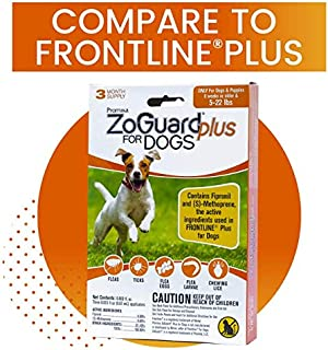 ZoGuard Plus Flea and Tick Prevention for Dogs, Small 5-22 lbs, 3 Months, 3 Doses