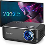 FUJSU Proiettore Home Cinema 80.000 ore 1080P Full HD, 7800 Lumen LCD LED Video Proiettore per film intrattenimento Giochi Viaggio,Supporta HDMI VGA AV USB Micro SD