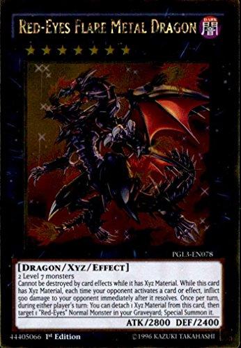Yu-Gi-Oh! - Red-Eyes Flare Metal Dragon (PGL3-EN078) - Premium Gold: Infinite Gold - Edition