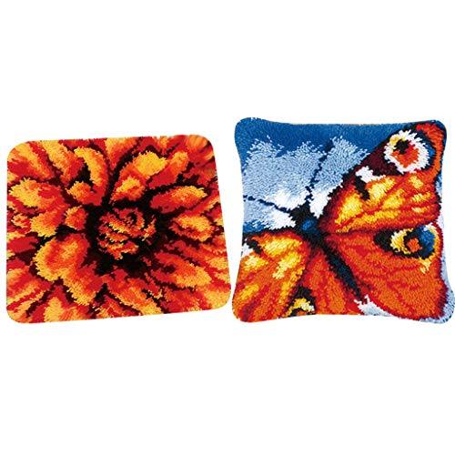dailymall - Juego de 2 alfombras de Nudos con diseño de Flores (Hechas a Mano)