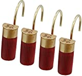 Old River Outdoors Red Shotgun Shell Shower Curtain Hooks/Rings - 12 Pc Set