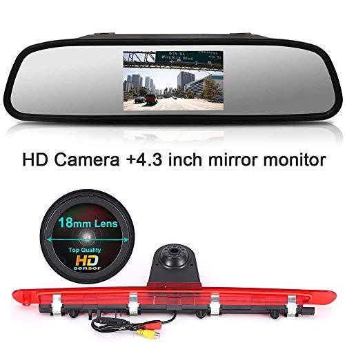 HD IP68 1280*720 pixeles 1000 TV líneas Transporter Nocturna IR Luz Freno Cámara de Marcha Atrás Visión Trasera Coche Puede Ajustar el ángulo para Mercedes Benz V260L/Marco Polo/W447+Espejo Retrovisor