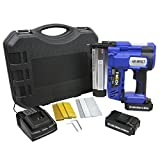 T-Mech 2 in 1 Nail & Staple Gun Cordless Powerful Electric Heavy Duty Stapler Nailer Tacker 18V, 600 x Nails & Staples, Additional Battery