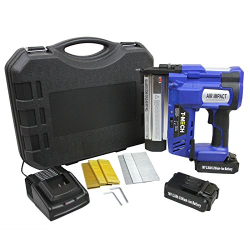T-Mech 2 in 1 Nail & Staple Gun Cordless Powerful Electric Heavy Duty...