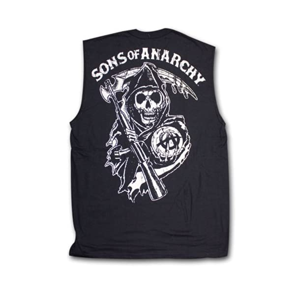 Sons of Anarchy Reaper Muscle Tank Top Samcro Shield Adult Shirt