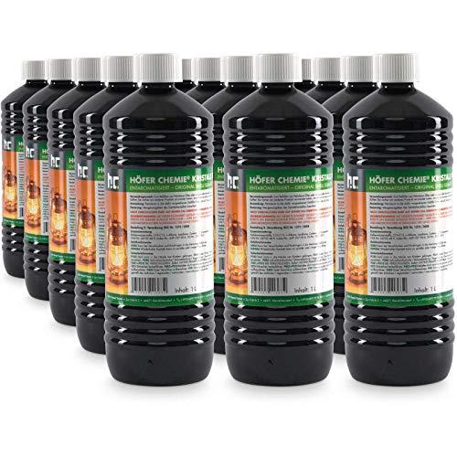 Höfer Chemie 15 x 1 L gereinigtes Petroleum Heizöl - zum Heizen für Campingheizung, Petroleumofen, Petroleum Laterne, Starklichtlampe UVM.