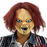 Scary Halloween Mask Creepy Halloween Mask Latex Horror Masks for Child Play Chucky Action Figures Masquerade Halloween Costume Party Bar Supply