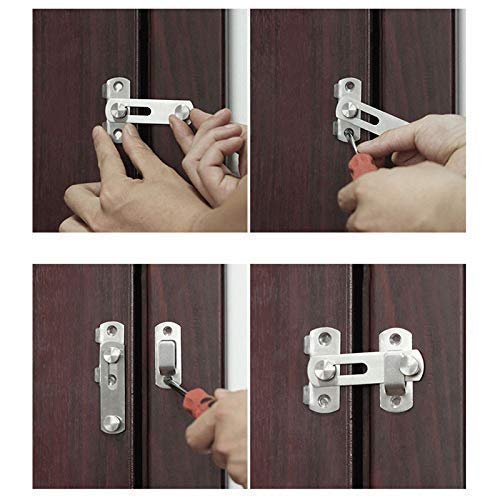 4 pernos de puerta de 90 grados para puertas correderas y puertas ...