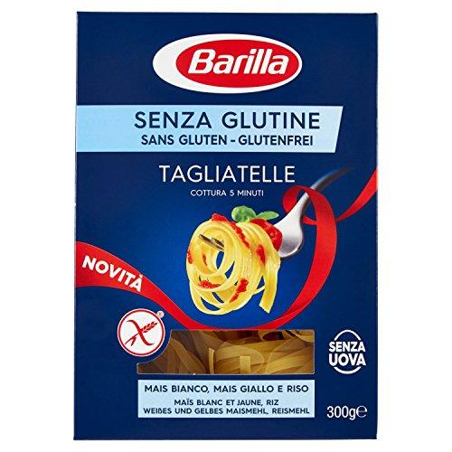 Barilla Pasta Tagliatelle senza Glutine, Pasta Lunga di Mais Bianco, Mais Giallo e Riso Integrale, 300 gr