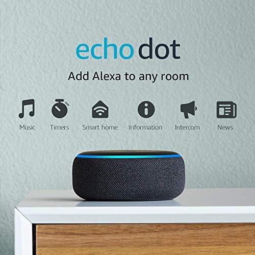 Amazon Echo Dot (3rd Gen) - Smart speaker with Alexa, Charcoal (Used)