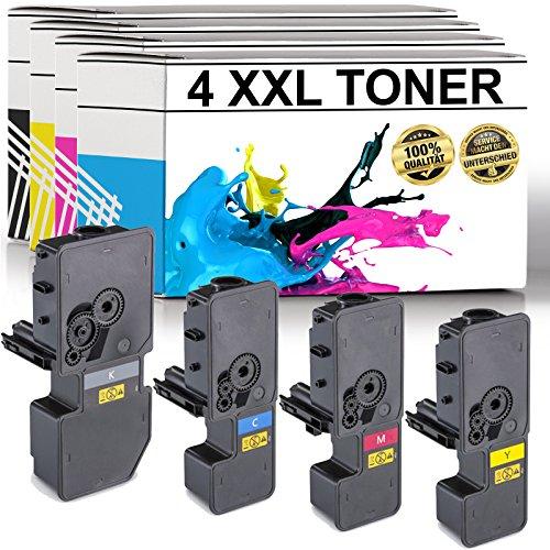 LABT Premium 4er Set Toner TK-5230 als Ersatz für Kyocera Ecosys M5521cdn, M5521cdw, P5021cdn, P5021cdw - mit Füllstandsanzeige   40{d075251d45285ce17a0f7eace7468d503144db9dc9368d0a632306aca2cdea4c} Höhere Druckleistung als TK-5220