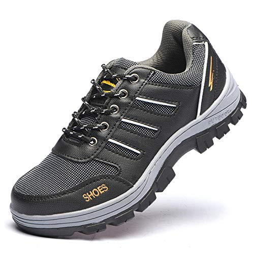xiaozhu Botas de Trabajo, Zapatos de Seguridad con Punta de Acero, Zapatillas Transpirables para Hombre, Botas de Senderismo al Tobillo, Calzado de protección anti-perforaciones-1092_39