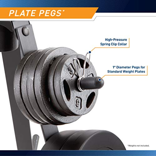 Marcy Plate Tree for Standard Size Weight Plates/Storage Rack for Exercise Weights PT-36