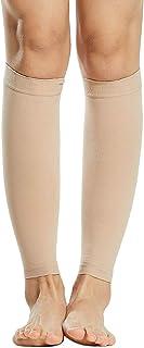 Ajcoflt 1 par de meias de compressão masculinas e femininas 20-30mmHg meias de compressão para inchaço de varizes
