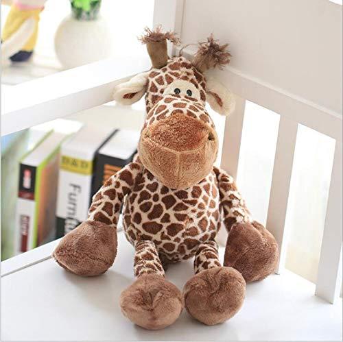 WWWL Juguetes suaves lindos 23cm grande jirafa encantadora felpa de peluche animal ciervo muñeca juguetes para niños