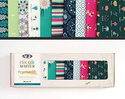 Art Gallery Fabrics - Stoffpaket Baumwolle I DIY Patchwork Stoffe Paket I 10 St. I Designer Palette - Mister Domestic