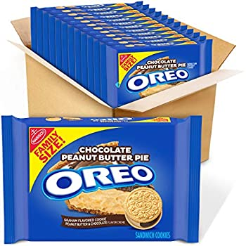 OREO Chocolate Peanut Butter Pie Sandwich Cookies 12 - 17 oz Family Size Packages