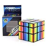 RUIGIN Geschwindigkeits-Würfel für Kinder Erwachsener, Regenbogen-Spiegel-3x3x3 Zauber Alien Cube Speed Puzzle Cube Professionelle Ausbildung Rund spielt Geschenke