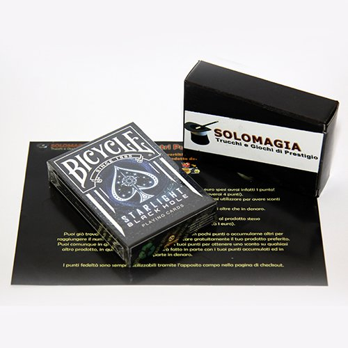 SOLOMAGIA Bicycle Starlight Black Limited Edition - Bicycle Kartenspiel - Zaubertricks und Magie