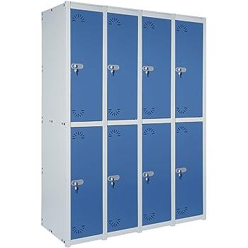 Taquilla metálica 2 Puertas. Módulo de 1 cuerpo Med. 1800x280x520 mm. Desmontada: Amazon.es: Bricolaje y herramientas