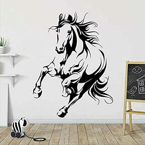 Amazon Com Wall Stickers Wall Decals Wall Tattoos Wall Posters Wallpaper Animal Horse Wall Sticker Kids Room Bedroom Decor Mural Animal Wall Decal Living Room Vinyl Art Stickers 56x42cm Kitchen Dining