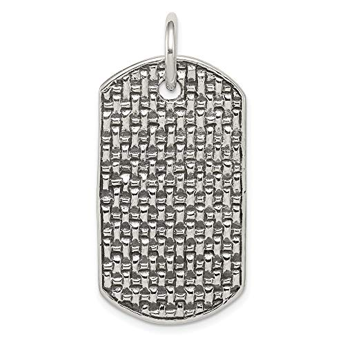 925 Sterling Silver Dog Tag Pendant Charm Necklace Fine Jewelry For Women Gifts For Her