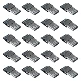 XLX 40PCS USB Type B Standard Micro Port Male Solder Plug Direct Jack Socket Connector Solder Welding Welding Plate for DIY USB Power Supply Breadboard Design Phone Power Cable