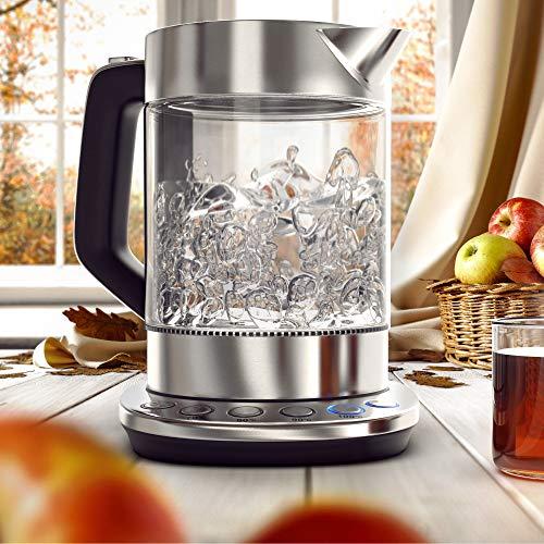 Arendo - Bouilloire électrique en verre avec...