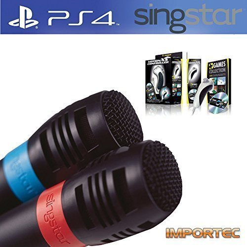 Playstation 4 Mikrofone f. Singstar + PC Motion XS Game Bundle (Extra) Verpackung (BULK)