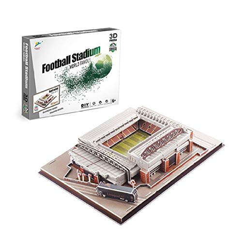 asdfgh DIY 3D Puzzle Models Football Stadium Paper 3D Puzzles, Anfield Stadium (UK) Model Kits,Educational Toy For Kids And Adults,Gift For Boys And Girls.
