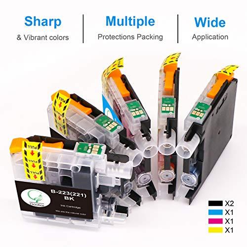 LC223XL Compatible para Cartuchos de Tinta Brother LC223, Pack de 5 Trabajar con Brother MFC-J5320DW DCP-J4120DW MFC-J480DW MFC-J5720DW MFC-J5625DW MFC-J4620DW MFC-J4420DW MFC-J880DW MFC-J4625DW