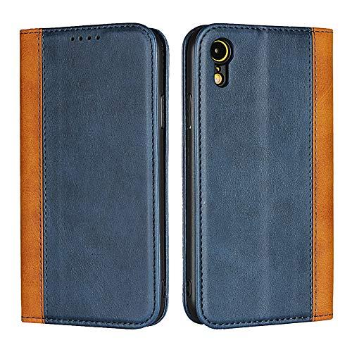 FAWUMAN Coque pour iPhone XR(6.1 inch),Housse en Cuir Premium Flip Portefeuille,3 Fentes de Carte, Stand Fonction, Fermeture magnétique,Magnétique Flip Etui pour iPhone XR(6.1 inch)