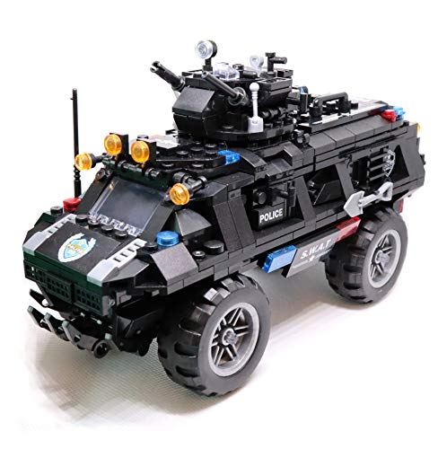 QXB Swat Police Truck Armored Tactical Transport Vehicle Building Blocks (549 PCS)