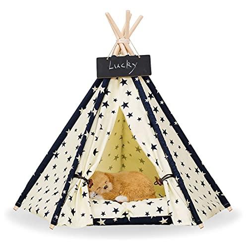 Zaihe Pet Teepee Portable Dog Tent