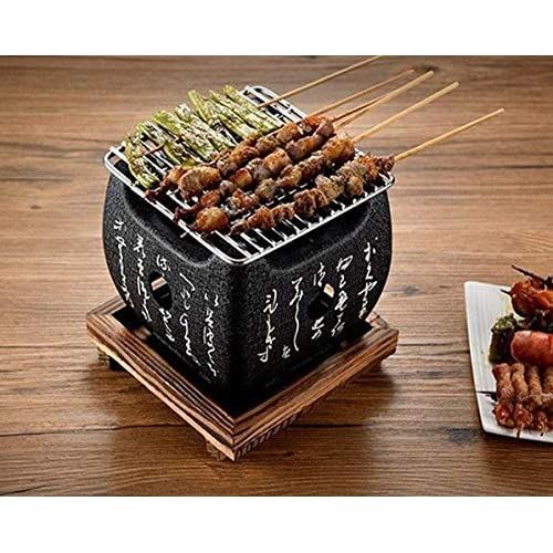 Amania Trading Ltd HIGOSHI Japanese Portable Cooking TEBURU SMALL Table Top Charcoal Mini BBQ grill