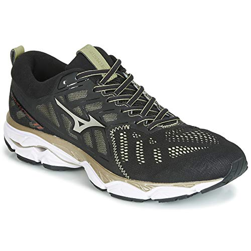 Mizuno Wave Ultima 11 Amsterdam, Zapatillas de Running por Hombre, Negro (Black/Gold/White 01), 42 EU