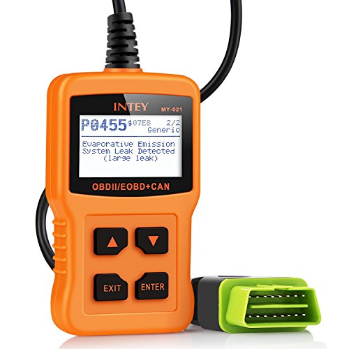 INTEY OBD2 Lecteur de Code, Effacer Le Code de Défaut du Véhicule, Batterie Diagnostique Outil, Supprimer Le Pilote de Code D'erreur, avec L'interface OBD-II Standard (obd2)
